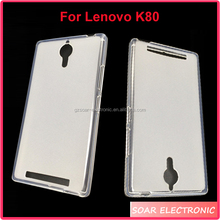 Wholesale pudding tpu case for Lenovo K80,plain cell phone case for Lenovo K80