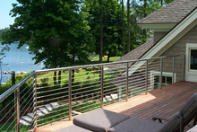 Fascia Stainless Steel Balcony Cable Railing / Wire Balustrade for Outdoor Balcony Design