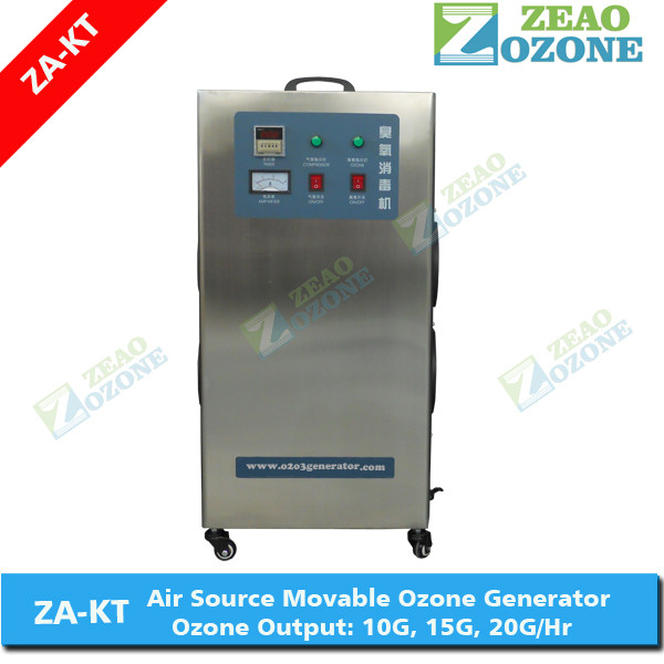 Air feed ozone generator machine for well water and sewage treatment