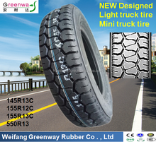 China New designed TBR tires 145R13C 155R12C 155R13C 5.50R13 Mini truck tyre
