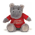 ASTM standard icti audited supplier personalized stuffed grey hippo toy with tshirt for kids