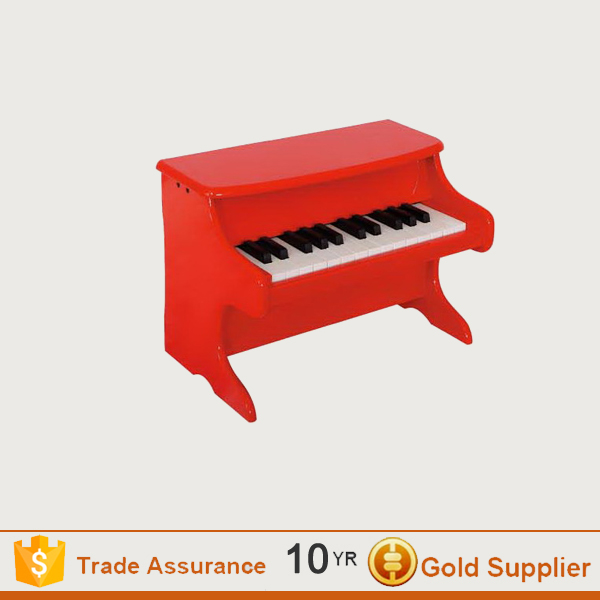 Usb mini wooden toy red grand piano