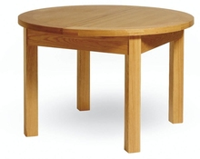 2017 New oak dining table round With Bottom Price