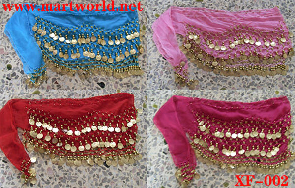beautiful beaded and sequined design belly dance hip belt (XF-002)