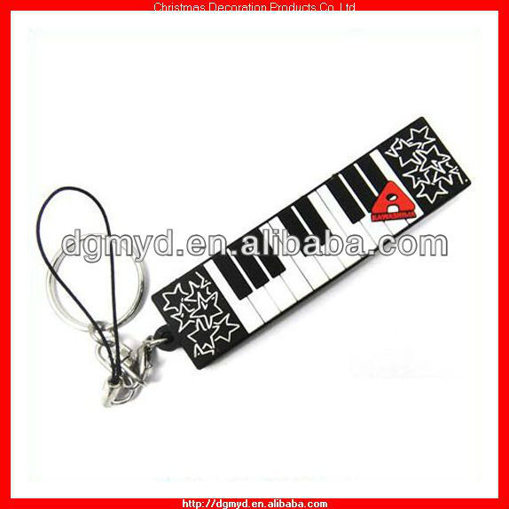 Piano shape Custom soft pvc key chains for Music Club (MYD-1152)