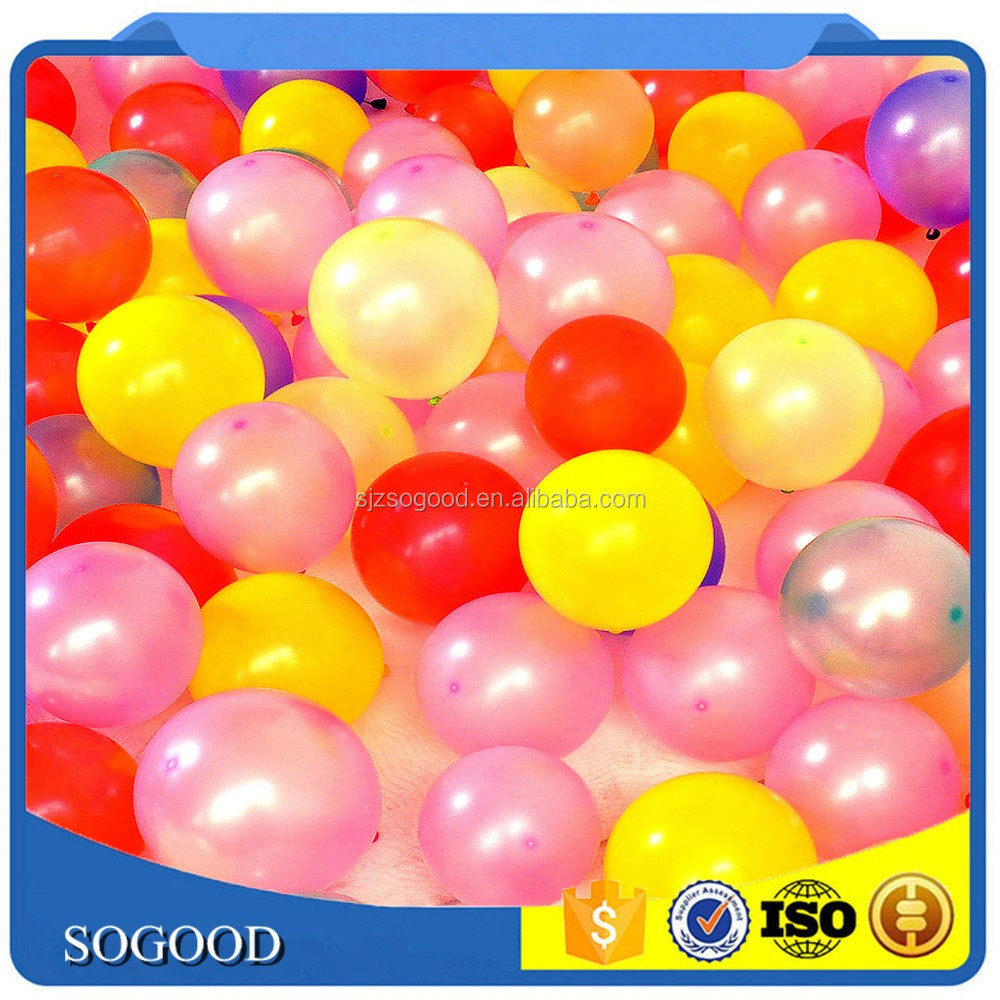 10 inch 1.2g/pcs Standard Round Latex Balloons