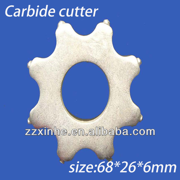 Concrete scarifier Cutter tungsten carbide cutter