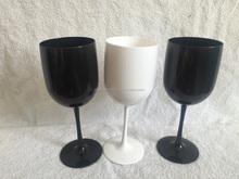 White PC& Acrylic Made Champagne Glass For Moet Chandon