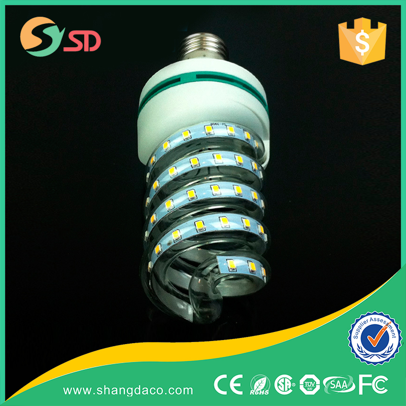 New smd 2835 lamp bulb e27 e40 led spiral light with high lumens