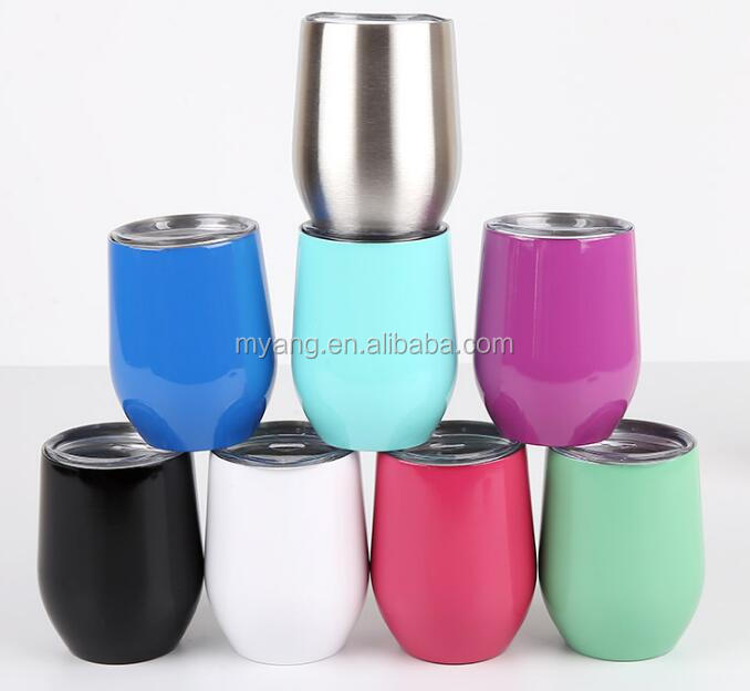 12 Oz Stainless Vacuum Insulated Wine Tumbler