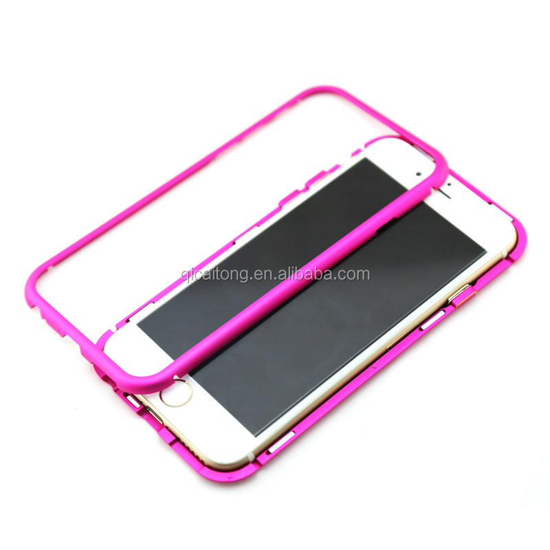 Paypal! Wholesale!Aluminum Bumper Case, Metal Aluminum Frame,with Magnet Back Cover for iphone 6