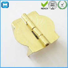 Mini Brass Wooden Box Prong Hinges Case Hinges With Foot