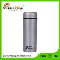 high-end double wall stainless steel vacuum flask bottle with nice matte silver painting