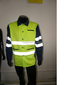 Reflector jacket hi vis clothing reflective tape work shirts