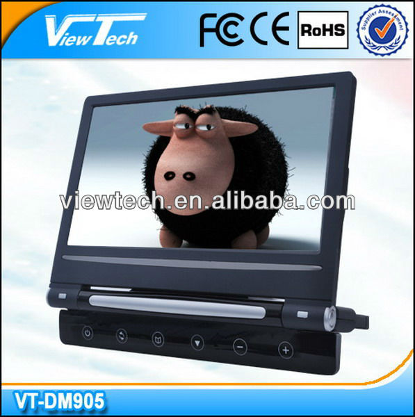 9 inch granulate auto removable headrest dvd monitor