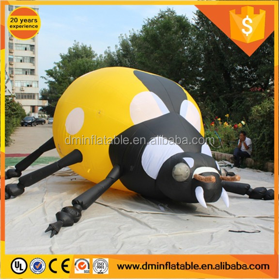 2017 New design inflatable cartton/animal/character/model/ red unicorn beetle --2.5m tall*5m length
