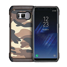 Camouflage anti-shock rugged case for samsung galaxy s8 plus tpu pc case back cover, hybrid phone cover for s8 plus