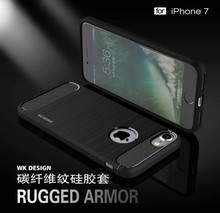 For Iphone 7 TPU Shield Armor Case WK Creative Drop Resistance TPU+PC Case For Iphone 7/7 plus HD-810