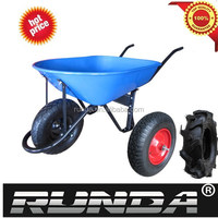 Heavy duty wheelbarrow WB4618 with agricultural wheel 16x4.00-8