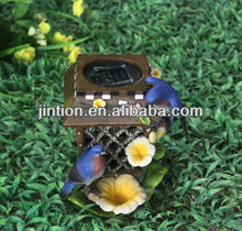 Polyresin birdhouse Solar garden lights