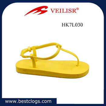 2017 PVC upper and PE outsole material PE printing flipflops