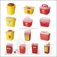 Plastic Disposable Medical Sharps Containers