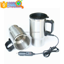12V 450ml portable stainless steel heated travel mug car cup car mug