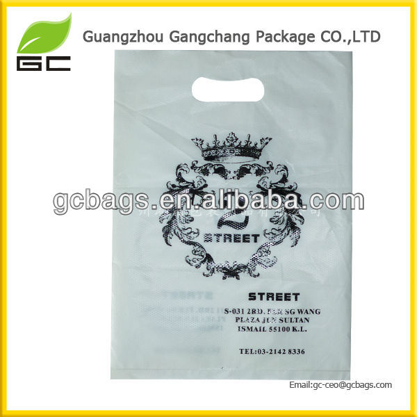 Customized Various Color Choice HDPE Plastic Die Cut Bag For Packing Clothes Garments