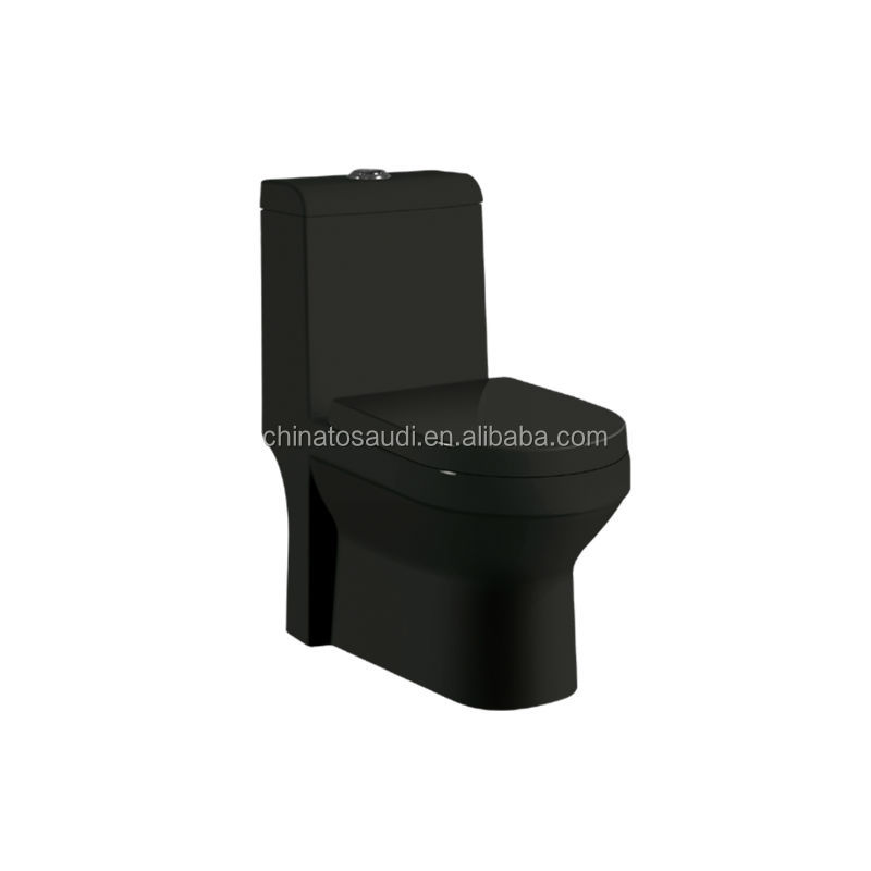 black colored ceramic toilets