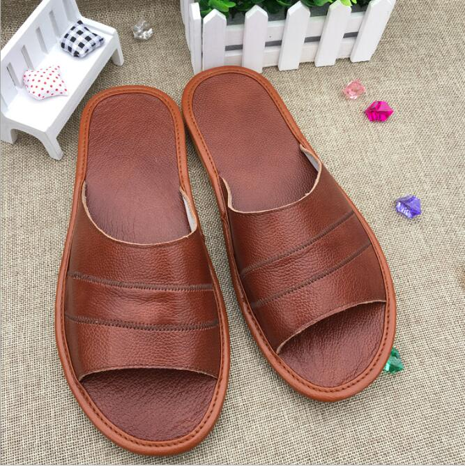 zm50268a Current stock man slipper leather slipper