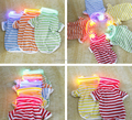 Wholesale high quality pet dogs striped POLO shirt with LED