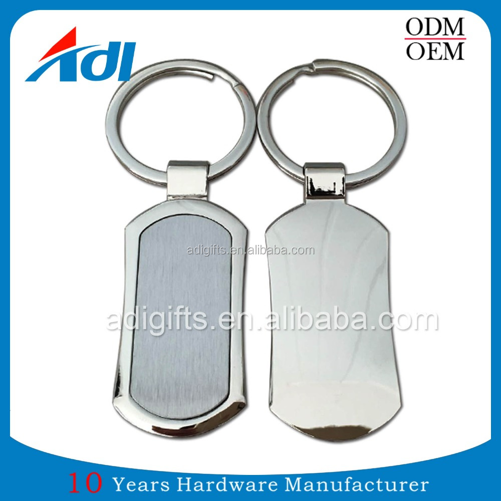 Promotional custom logo die cast metal blank keychain for wholesale