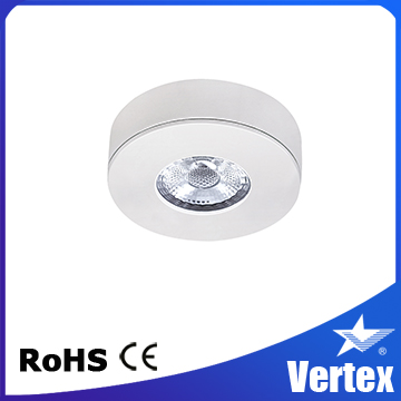 CRI 93 4W Warm White COB LED Cabinet Light, 4W Surface Mounted LED Downlight