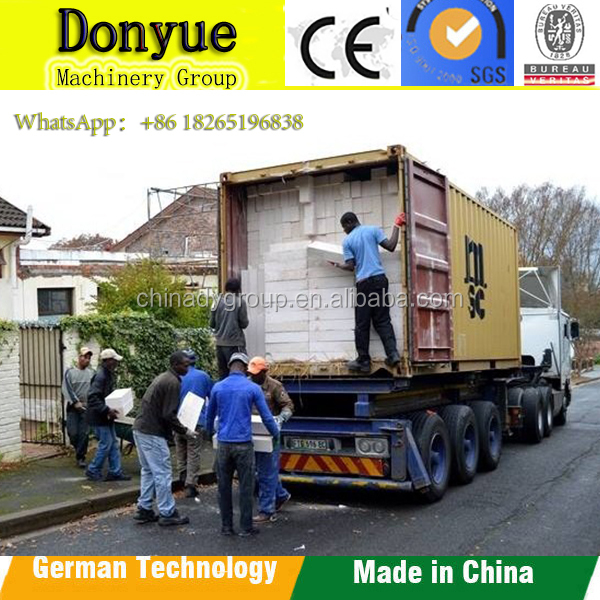 sand or fly ash Autoclaved aerated concrete AAC block Chinese famous supplier DONYUE