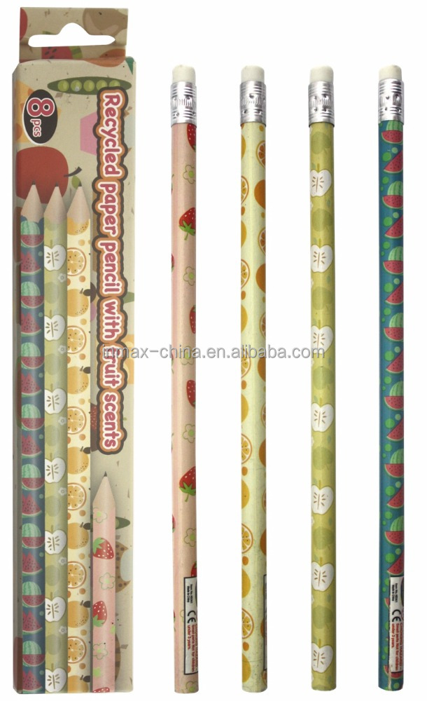 Customized film scented HB various smell paper pencils