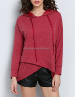 Autumn Fashion Women Irregular Hem Hoody
