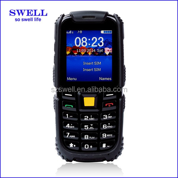 Daylight visibility rugged smartphone feature phone 2.4inch dual sim GSM IP67 dustproof dropproof S6