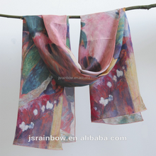 100% silk scarf sublimation printed scarves oem custom wholesale