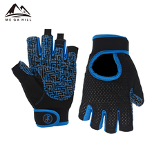 Custom 2018 new design comfortable breathable half short finger cycling gloves