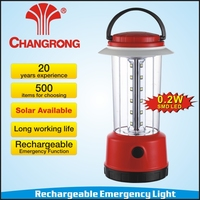 Rechargeable plastic emergency solar lanterns