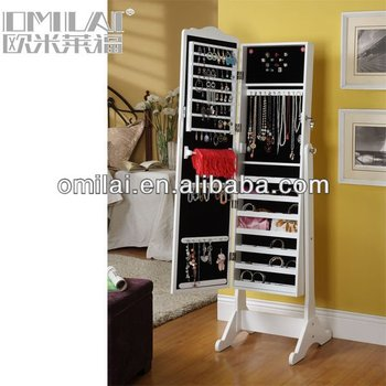 Classic Jewelry Armoire Mirror Storage