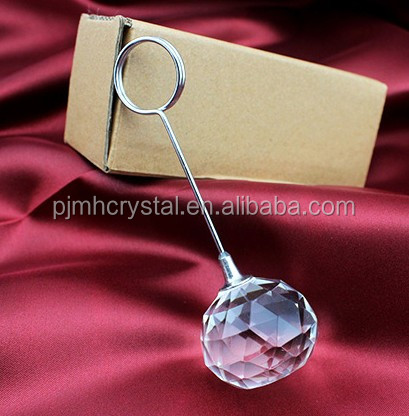 wedding decoration crystal ball table card holders,place card holder wedding MH-MP0018