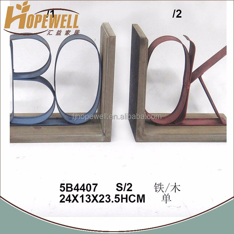 cheap custom made bookend , metal book letter bookend
