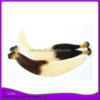 European remy hair u tip ombre two tone human hair extension