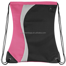 High school sport bag for teenage girls mesh drawstring backpack bag gym bag
