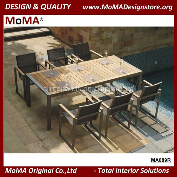 MA089R Outdoor Steel Restaurant Furniture Good Qquality Aluminium Dining Table And Chairs Set