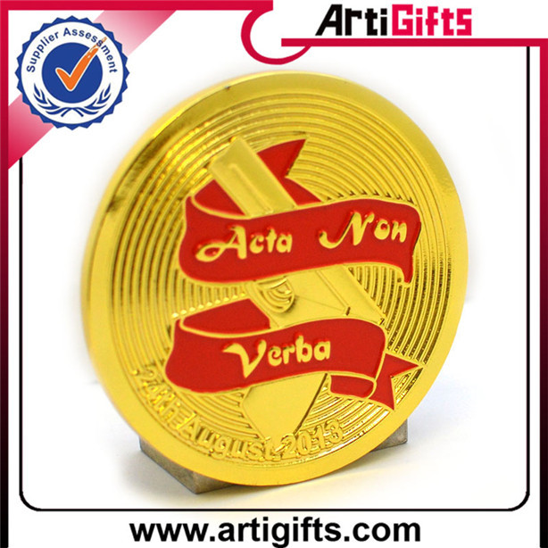 Low price epoxy coating gold coin