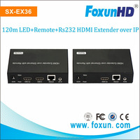 VLC video player H.264 encoder HDMI extender support LED, Remote, POE,RS232 HDMI Over IP