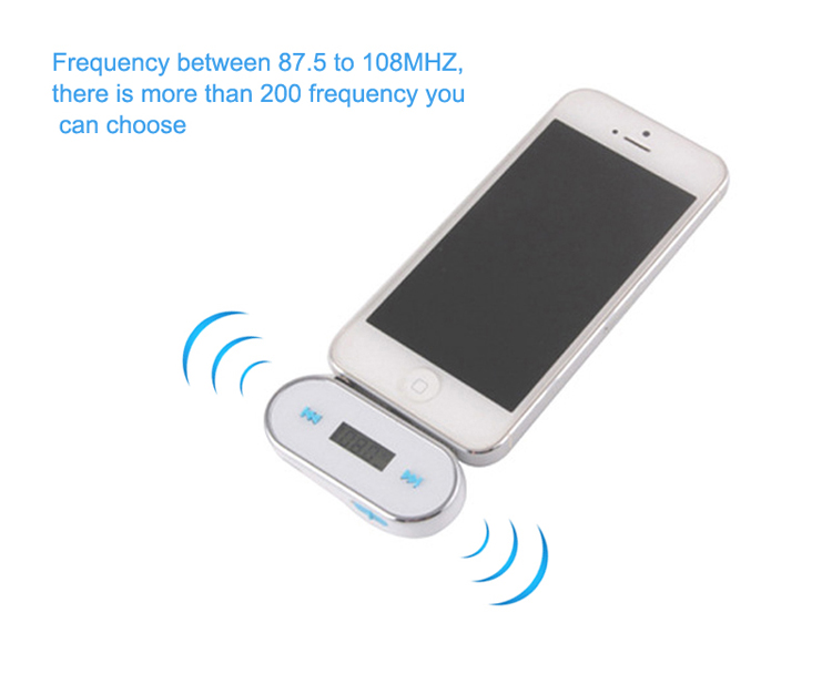 GXYKIT F2 Built-in 120mAh Lithium Battery Micro USB Charge 3.5mm Audio FM Transmitter With LCD Display Combunate CD Player MP4
