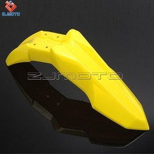Bright Color Motorcycle ATV Yellow Front Fender Plastic Plate Shrouds MX Enduro 250cc Cross Universal High Quality